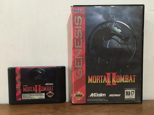 mortal kombat 1 y 2 con caja para sega genesis buen estado