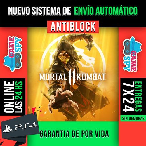 mortal kombat 11 ps4 digital 1° + 1 juego de regalo   promo