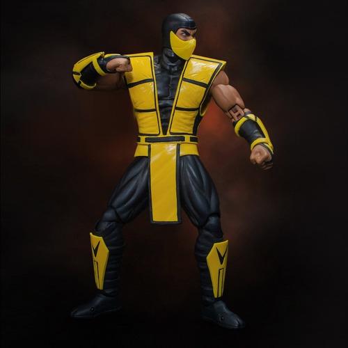 mortal kombat 3 scorpion storm collectibles robot negro