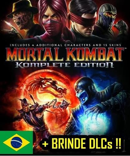 mortal kombat 9 + dlcs ps3 luta leg. portugues digital luta