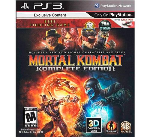 mortal kombat 9 komplete edition ps3 disco fisico sellado
