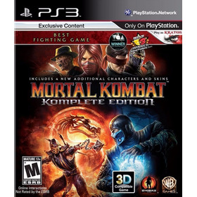 Mortal Kombat 9 Ps3 Komplete Edition | Digital Oferta Tenelo