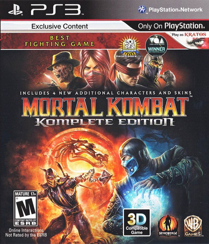 mortal kombat 9 ps3 komplete edition | digital español 2p