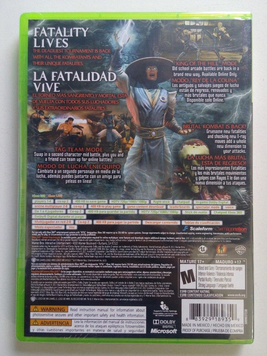 Mortal Kombat 9 Xbox 360 Nuevo Envio Gratis 890 00 En
