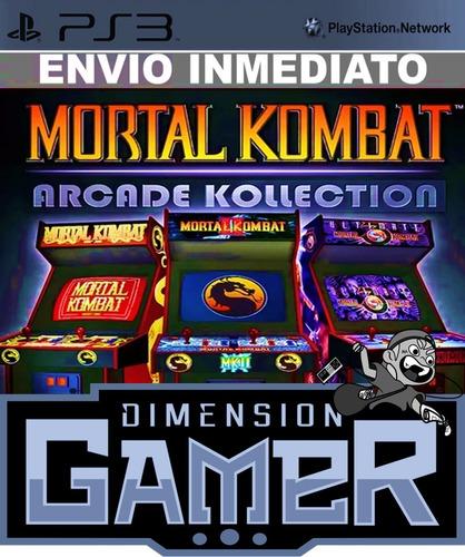 mortal kombat arcade kollection ps3 (230mb) store digital