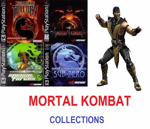 mortal kombat collections - playstation 1 / ps1 one