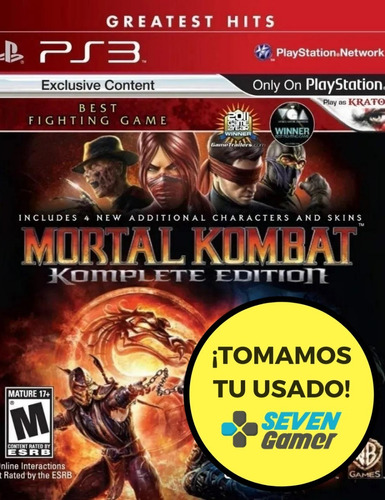 mortal kombat komplete edition ps3 juego fisico sellado