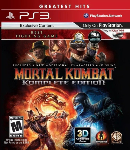 mortal kombat komplete edition ps3 original fisico sellado