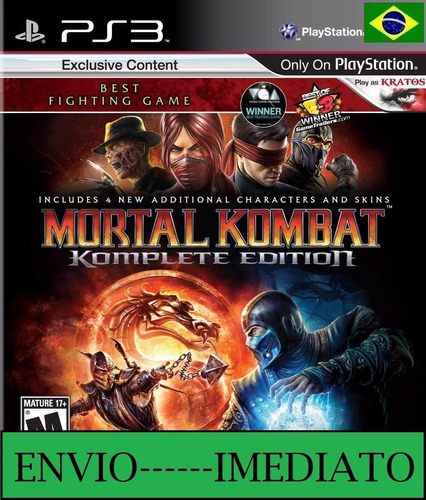 mortal kombat komplete edition ps3 psn - português imediato