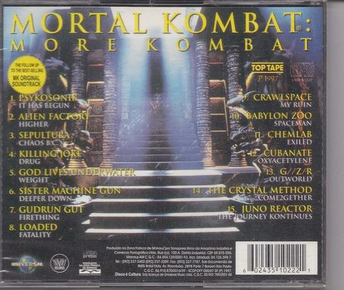 mortal kombat - more kombat - raridade - cd