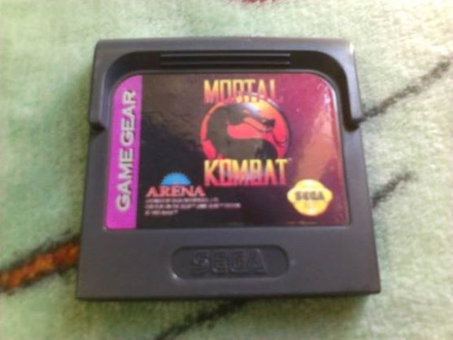 mortal kombat sega game gear cartucho videojuego