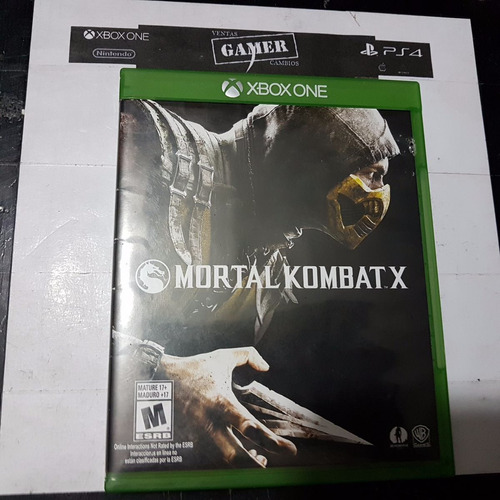 mortal kombat x xbox one usado . cambios gamer ..