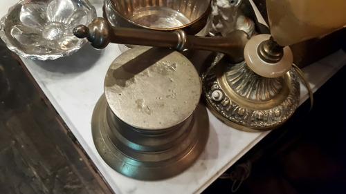 mortero colonial en bronce