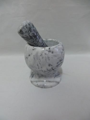mortero de marmol 10 cm semillas macizo machacador
