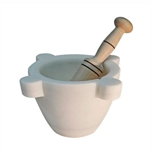 mortero de mármol blanco - diámetro 14 cms