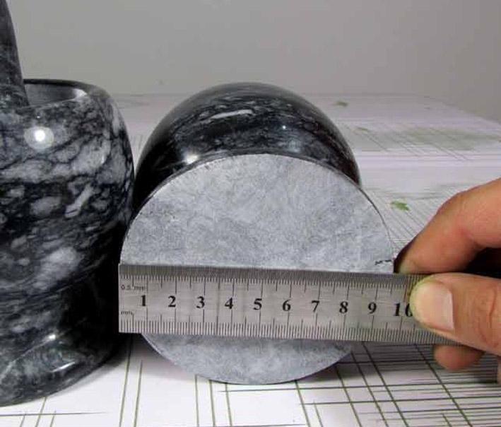 Mortero de marmol con maja o pistilo ajo molino piedra for Mortero de marmol