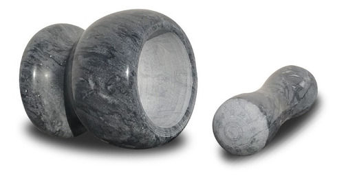 mortero de marmol machacador piedra negro carrara