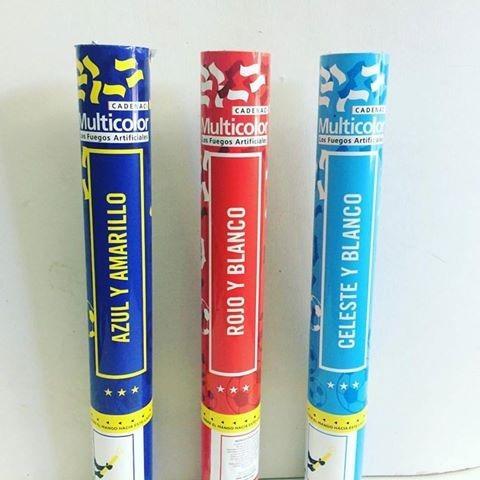 mortero lanza confeti papeles cadenaci multicolor