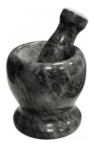 mortero marmol con pison 11 cm semillas macizo machacador