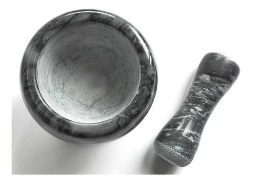 mortero marmol con pison machcador 11 cm colores diseño !!