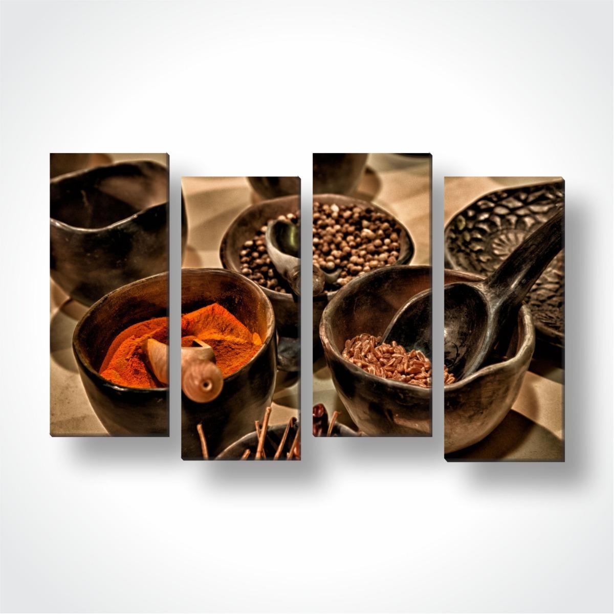a190162ee mosaico 4 quadros decorativos sala tecido para cozinha. Carregando zoom.