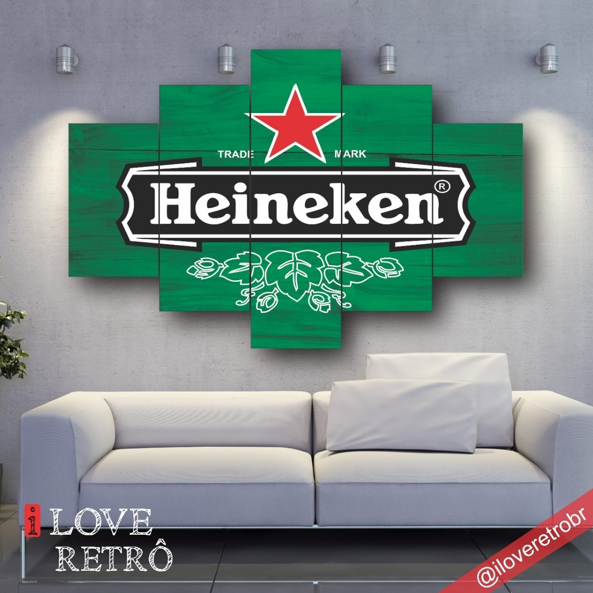 321aa17dc Mosaico Bar - Quadro Decorativo - Frete Grátis - R  281