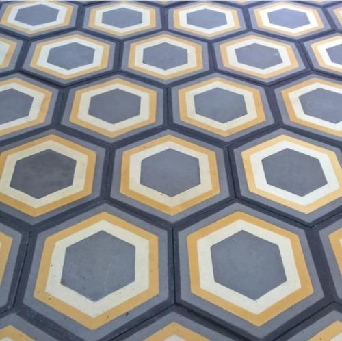 mosaico calcareo hexágono fabrica