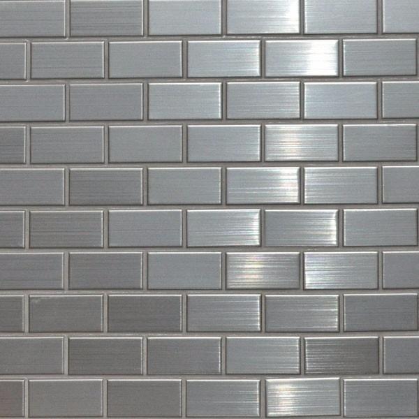 Mosaico de acero inoxidable decorativo para muros de for Mosaico para cocina
