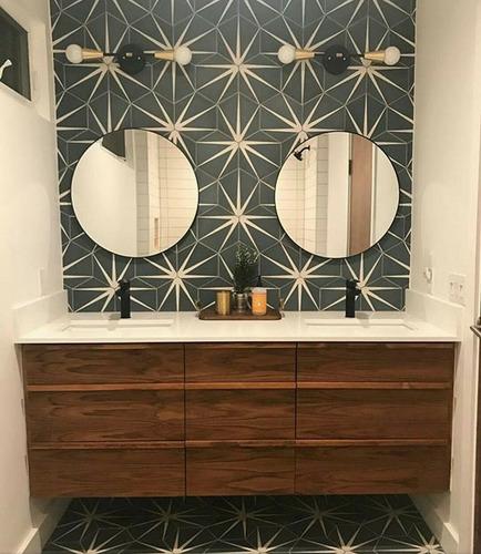 mosaico de pasta decorado piso hidraulico