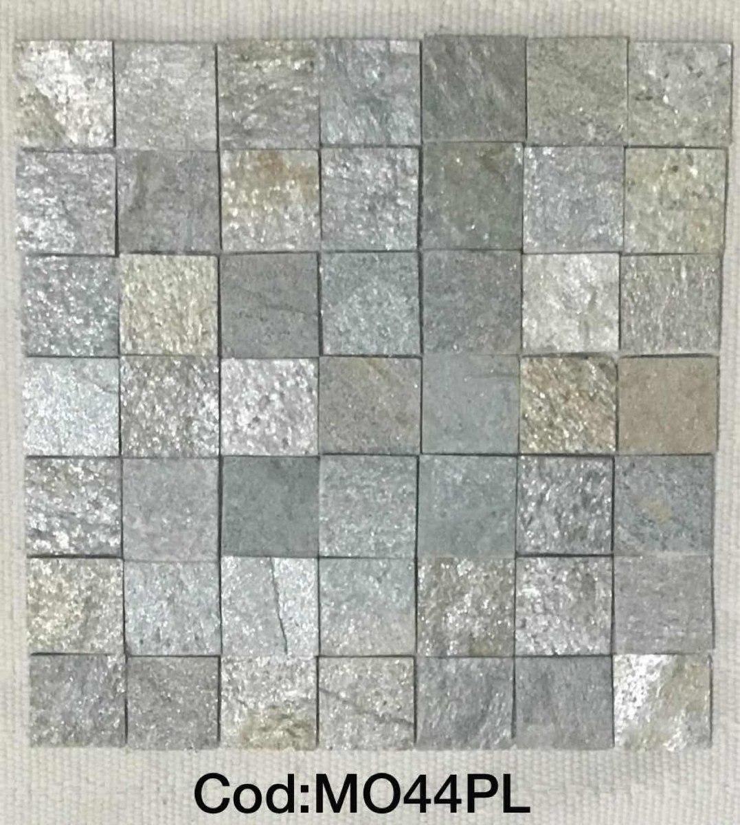 Mosaico de piedras en malla para paredes salas ba os - Muestras de banos ...