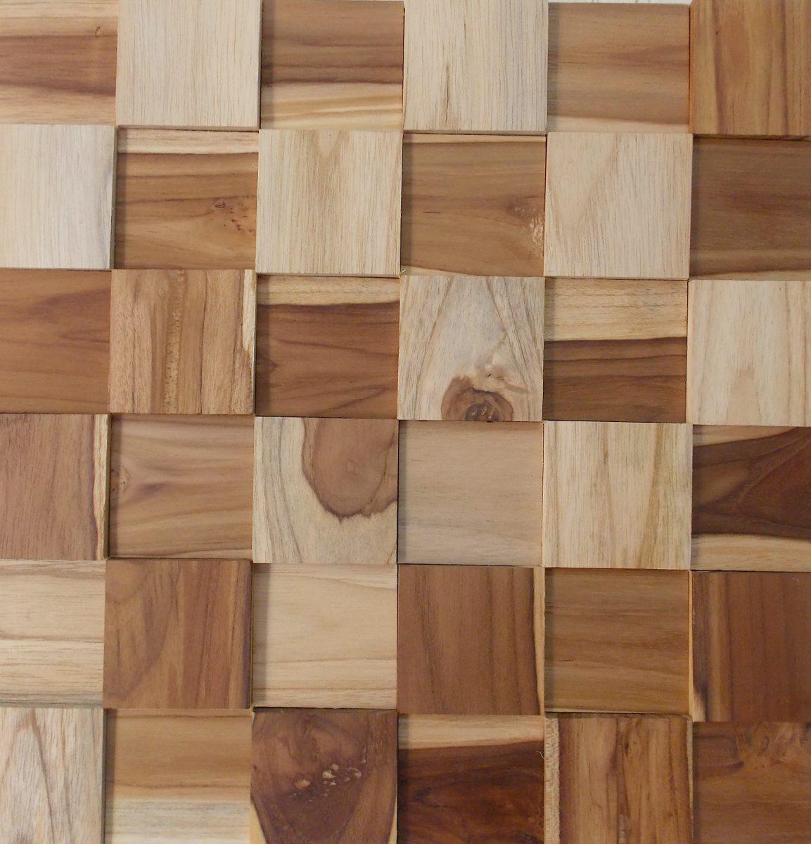 Mosaico madeira teca lisa pastilhas 30cm x 30cm r - Mosaico leroy merlin ...