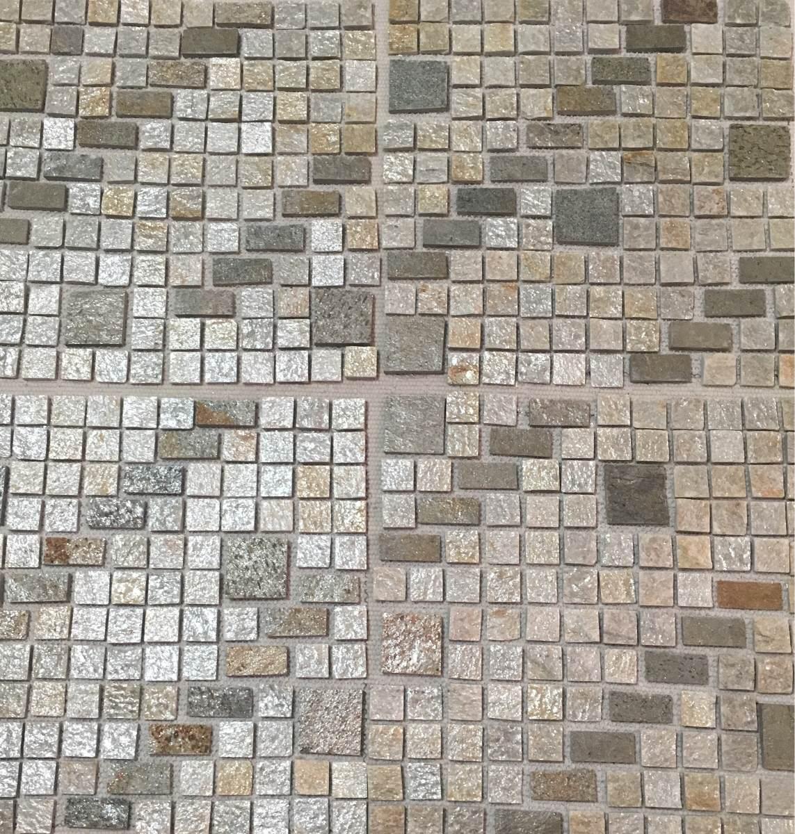 Mosaico o malla piedra lima plata salas ba os cocinas Mosaico para bano precios