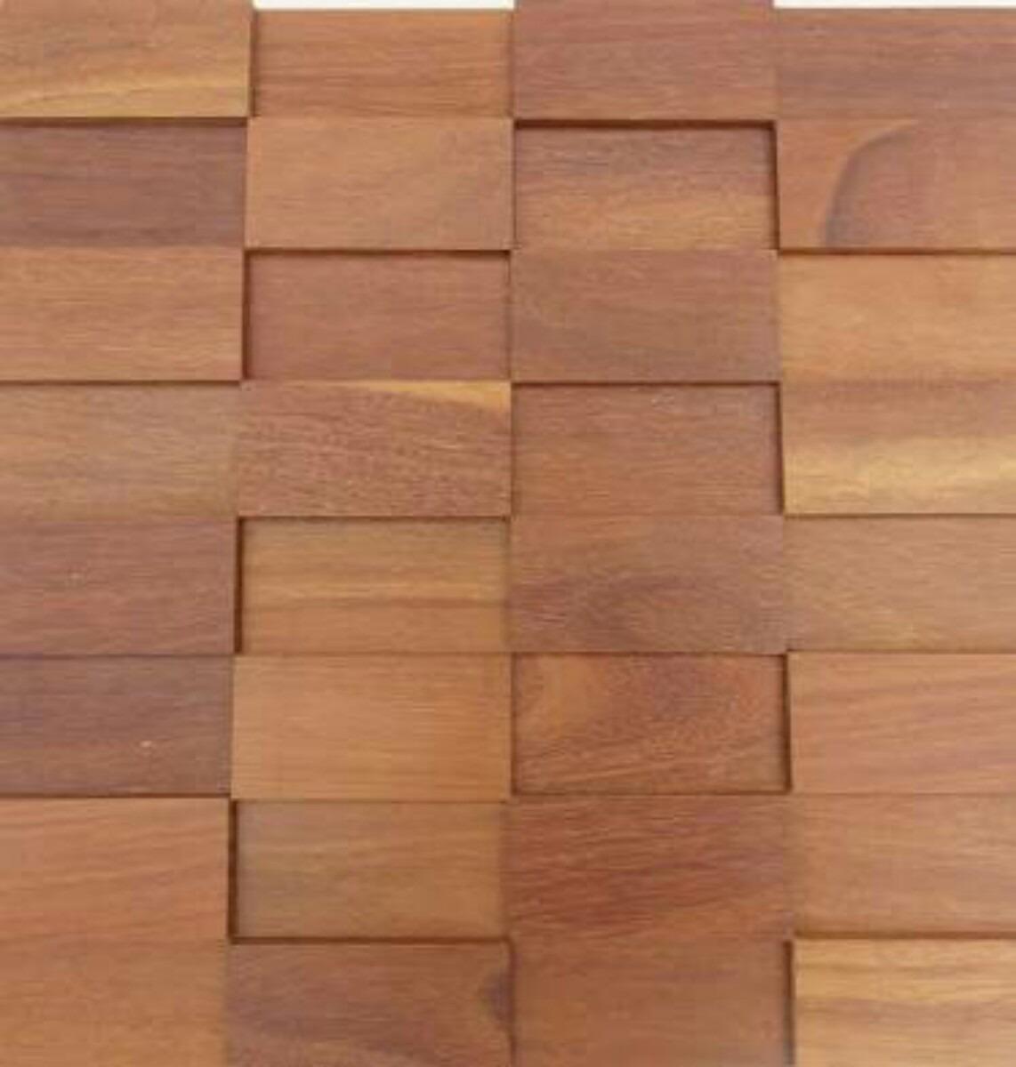 Mosaico Revestimento De Madeira Pastilha R 21 90 Em