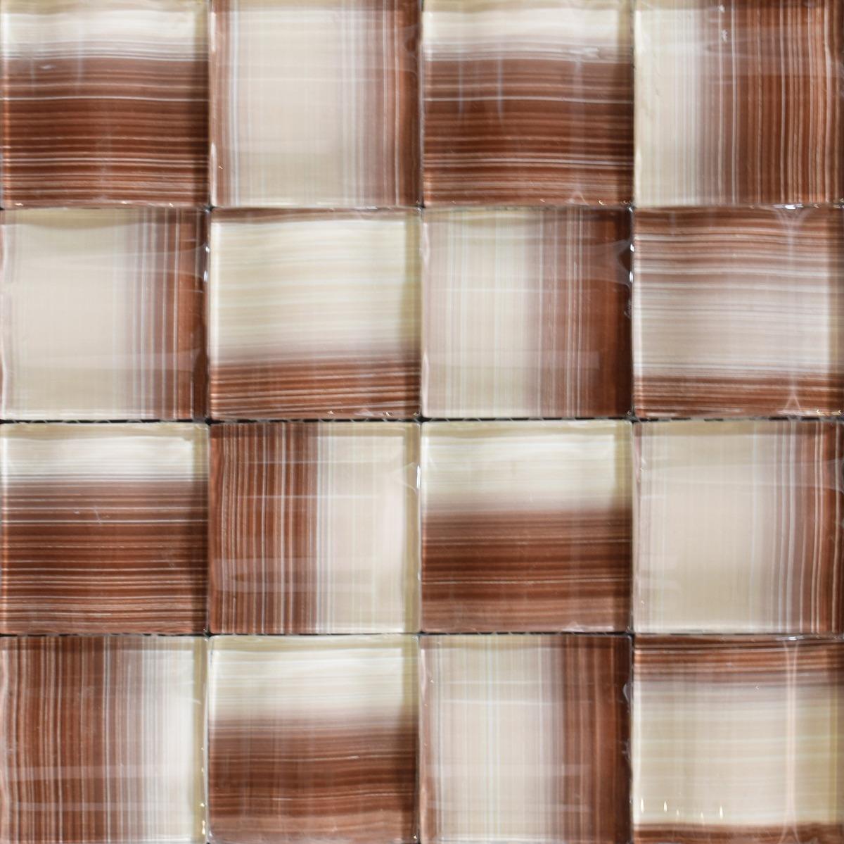 Magnífico La Instalación De Baldosas De Vidrio Mosaico Pared ...