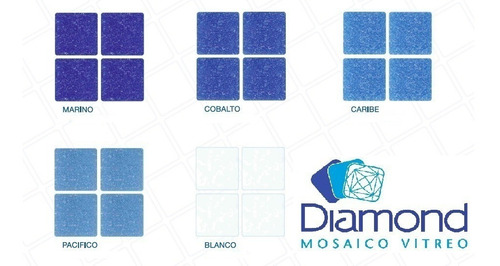 mosaico veneciano mezcla riviera diamond 2 x 2, caja 2.14 m2