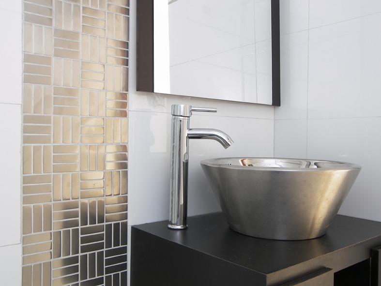 Mosaicos de acero para paredes ba os y cocinas - Paredes para banos ...