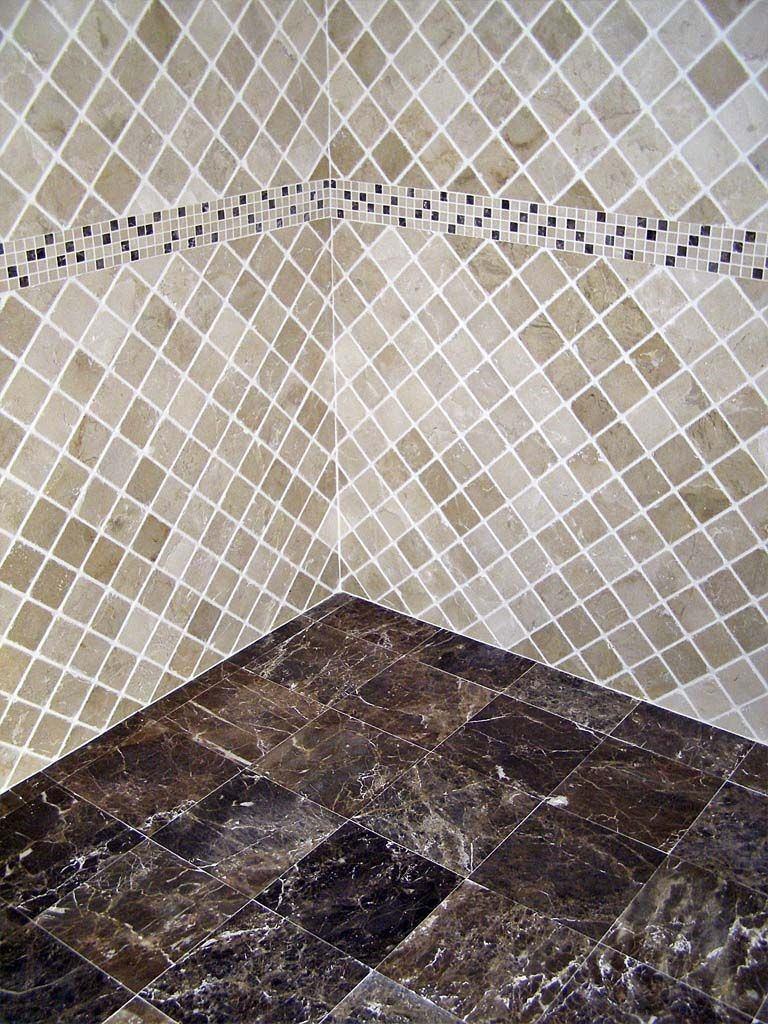 Mosaicos de m rmol travertino 10x10cm piso pared for Marmol travertino nacional