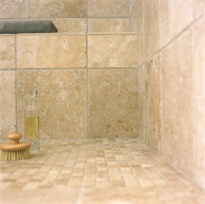 Mosaicos de m rmol travertino 10x10cm piso pared for Precio de marmol travertino