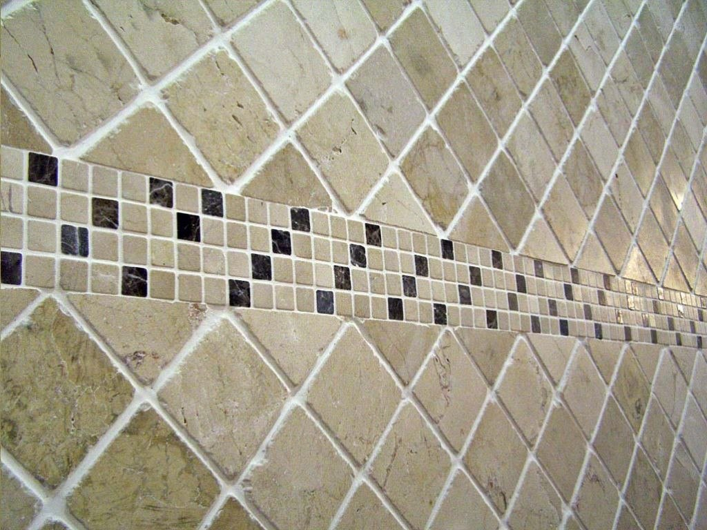 Mosaicos de m rmol travertino 10x10cm piso pared for Pisos decorados por interioristas