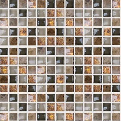 Mosaicos decorativos cristal 8mm cenefas para ba os castel - Banos con cenefas ...
