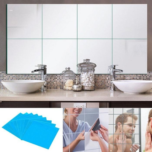 mosaicos tipo espejos de pvc adhesivos - 9 cuadros