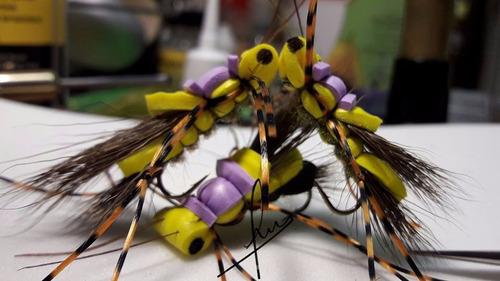 moscas de la  truchas patagonia 3 unidades