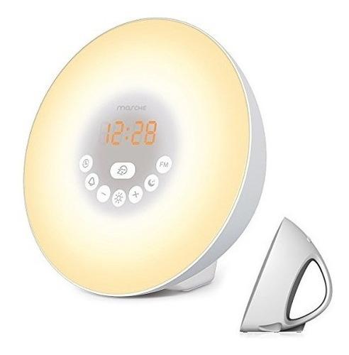 mosche sunrise despertador, reloj digital, despertador con 6