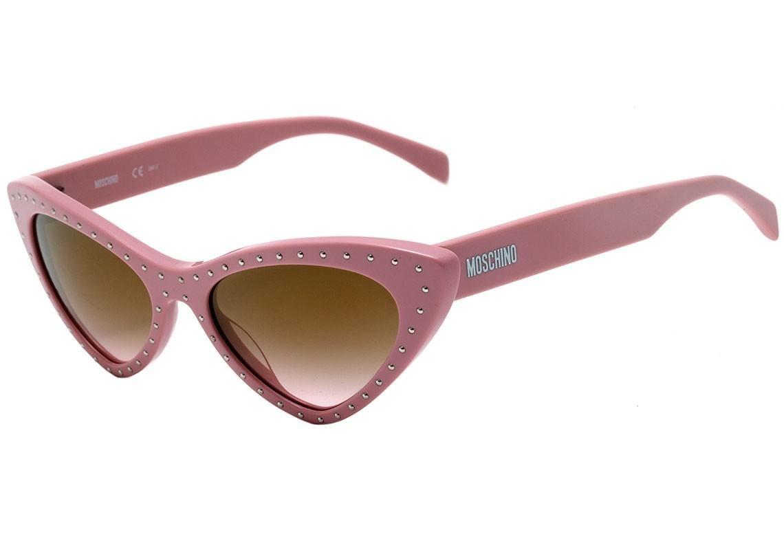370c62c03 Moschino Mos006 S - Óculos De Sol 35j 53 Rosa E Dourado Bril - R ...