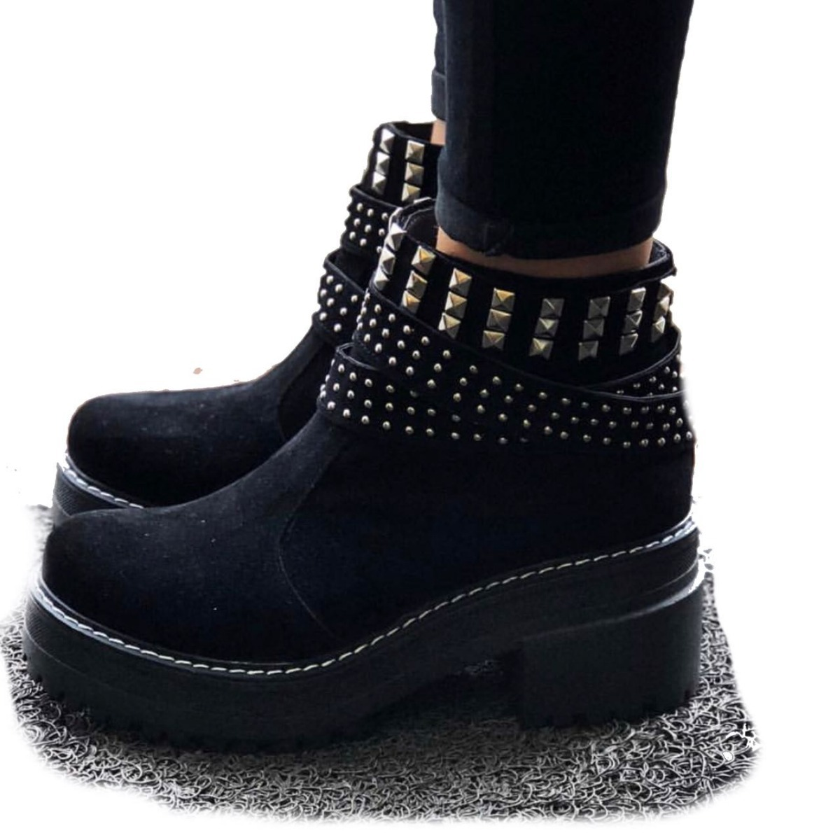 e338f4e577b Moscú Black - Bota Plataforma Mujer Araquina Zapatos -   1.499