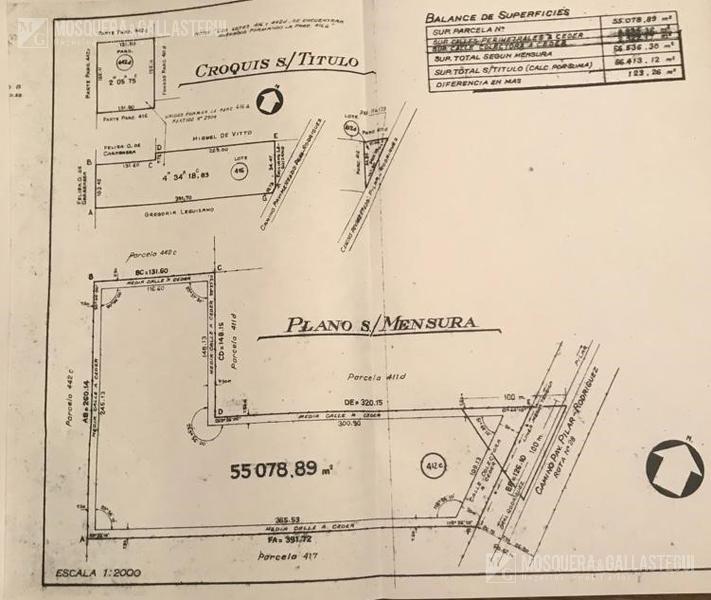 mosquera y gallastegui - venta chacra sobre ruta 28, pilar. 5,5 ha.