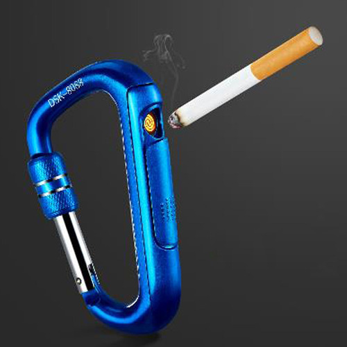 mosquetón creativo encendedor de cigarrillos usb personalida