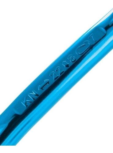 mosquetón para arnes escalada rocky azul