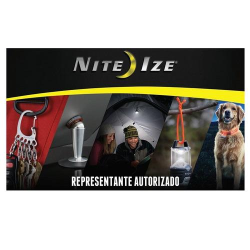 mosquetón plateado doble con seguro #3 slide lock nite ize