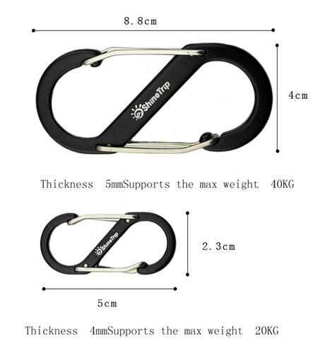 mosquetón s-biner de doble muelle para escalada, tamaño 2,